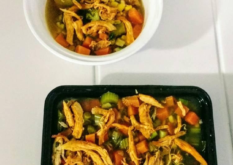How to Prepare Most Popular Zero oil Chicken Veg Soup