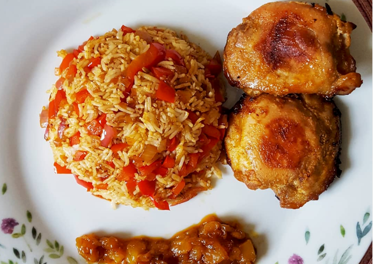 How to Make Award-winning Fried Rice with Honey Mustard Chicken and Spicy Mango Chutney