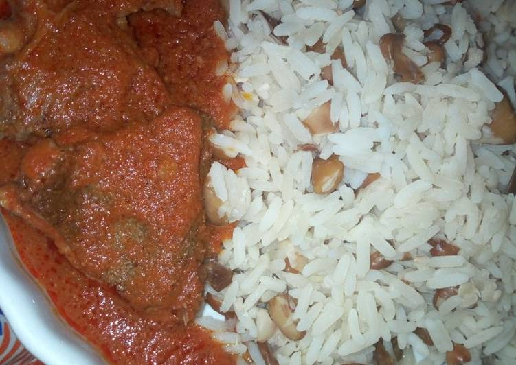 Rice And Beans With Beef Stew Recipe By Chef Kiki Cookpad