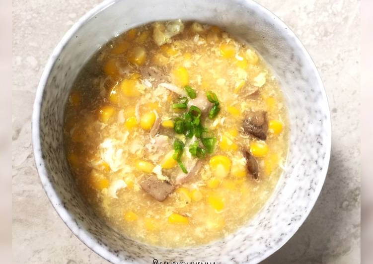Resep Corn soup/ sup jagung diet pcos Yang Simple Bikin Nagih