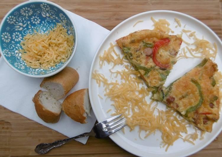 Oven baked Veggie Omelet