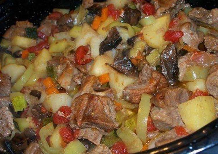 для запекание картошки с мясом в мультиварке фото думаю