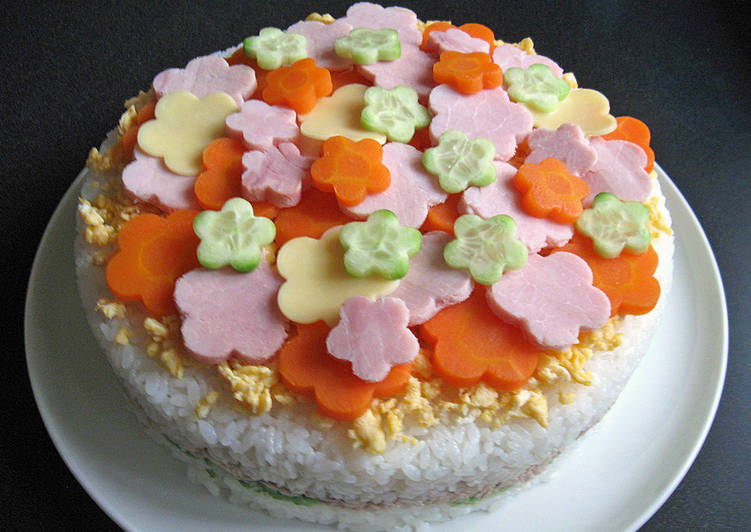 Recipe: Tasty Decorated Sushi Cake