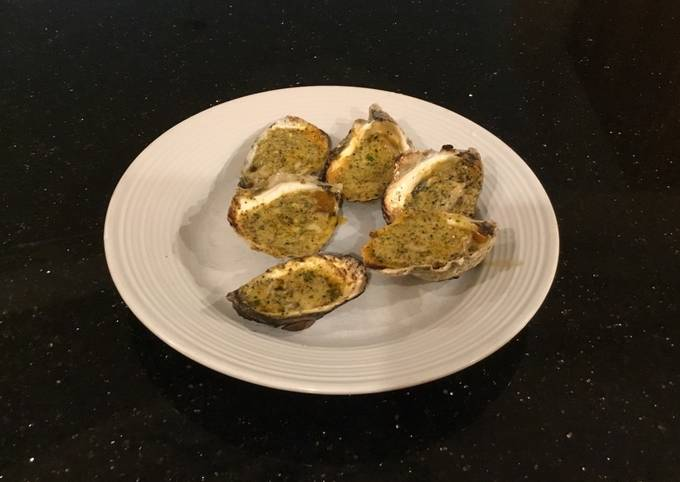 How To Make Grilled Oysters With Garlic/Romano Herb Butter Very Simple