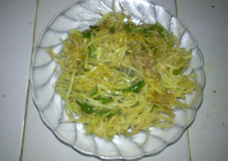 Sayur Tumis Pepaya Lombok Ijo