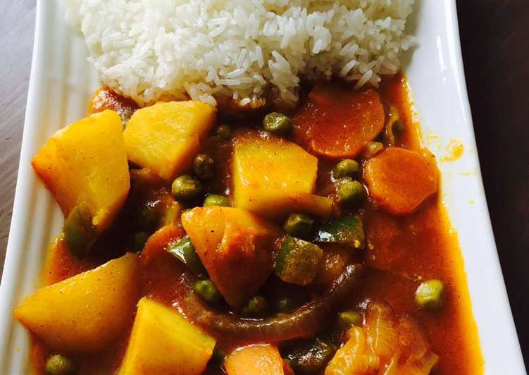 Easiest Way to Prepare Any-night-of-the-week Rice and peas stew
