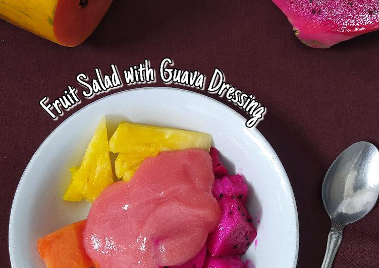 Fruit Salad with Guava Dressing - cookandrecipe.com