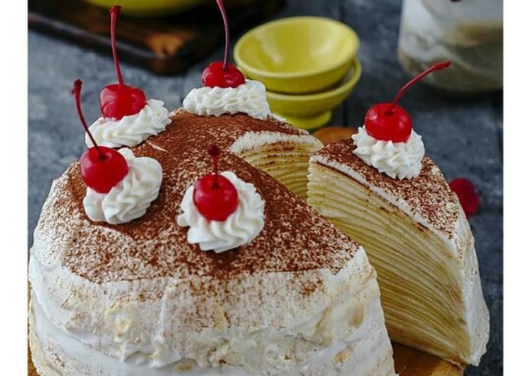 Resep Tiramisu Mille Crepes Oleh Moms2a Cookpad