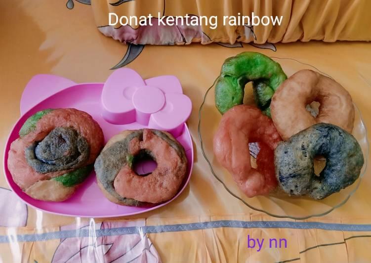 Donat kentang rainbow