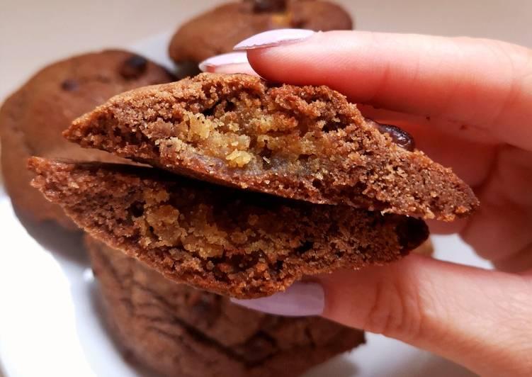 Cookies chocolat au coeur de beurre de cacahuètes