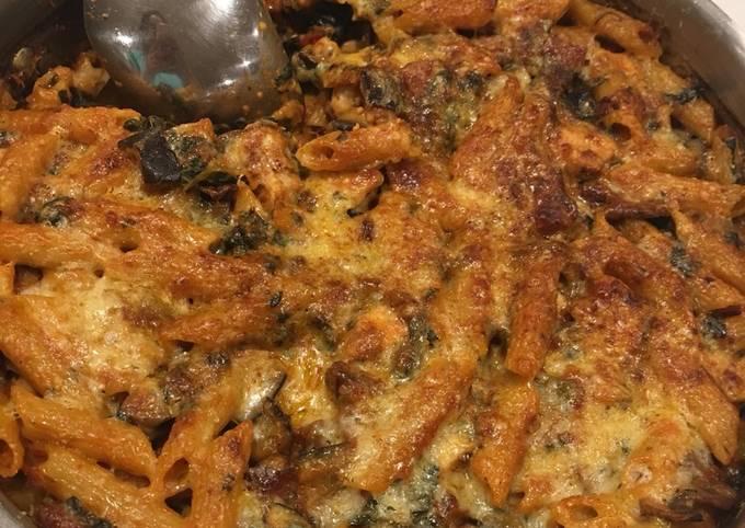 Smoky Chorizo & Chicken Pasta Bake
