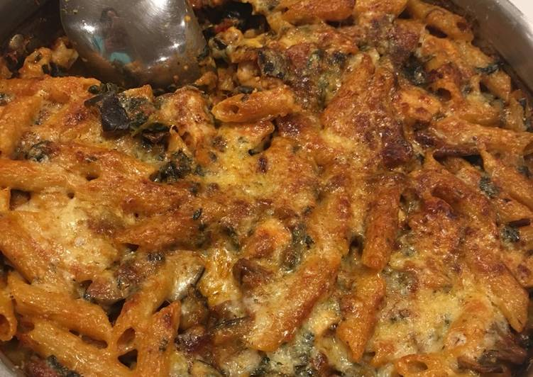 Smoky Chorizo & Chicken Pasta Bake
