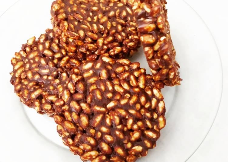 Barre de céréale au chocolat sans beurre