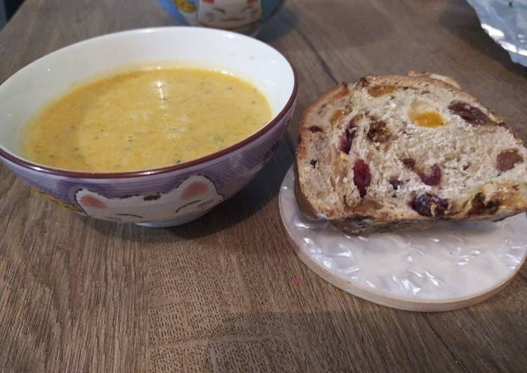 Recette  Veloute butternut curry-coco