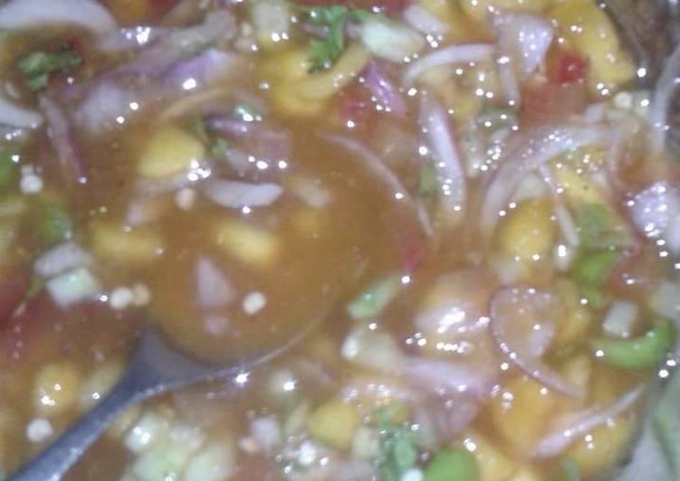 Recipe of Quick Mango salsa (pardese chatne)