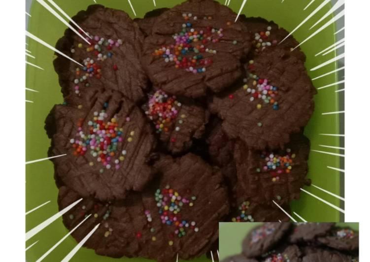 Chocolate cookies teflon