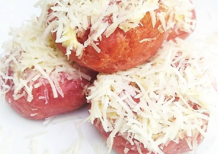 Donat kentang&sari buah bit 😍