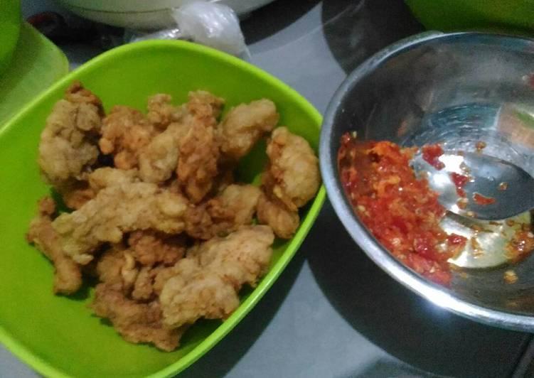 Ayam Krispi + Sambal Bawang (Ayam Geprek)