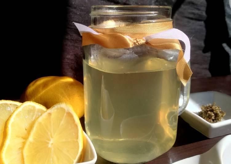 Infusion thym, miel et citron