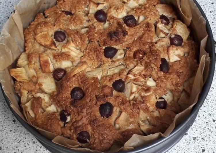Gâteaux rustique pomme - noisette (vegan)