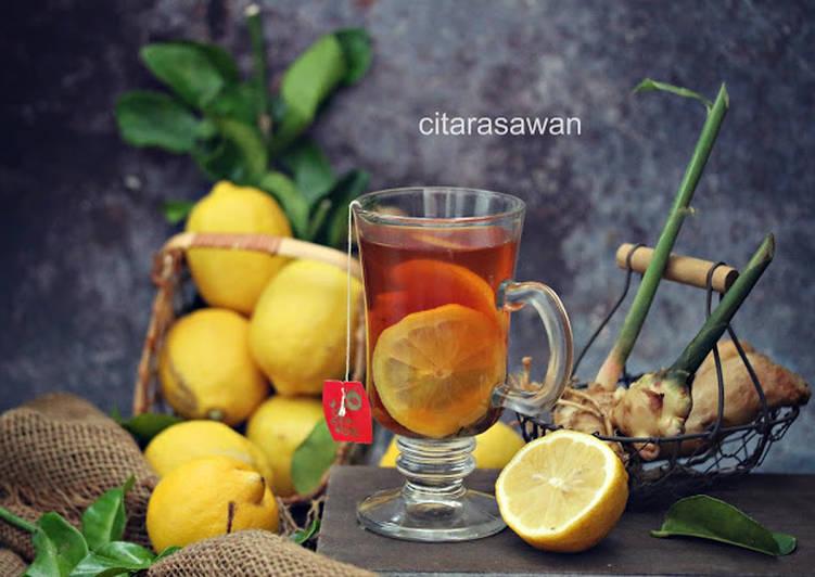 Teh Lemon Halia Madu - resepipouler.com