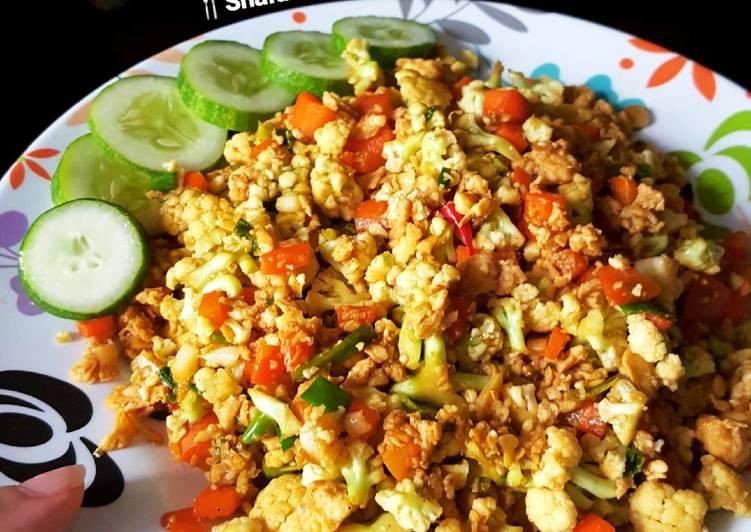 Cauliflower fried rice (Nasi goreng diet)🇺🇸