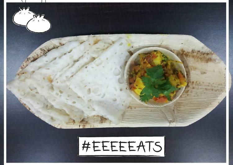 Neer dosa and potato sabji lover