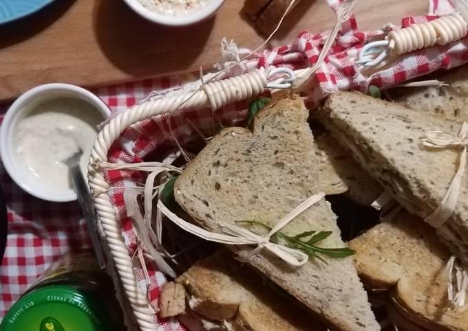 Shawarma Poulet revisité en Club Sandwich🥪