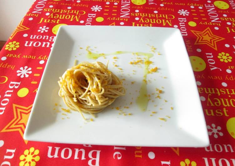 Recipe: Delicious Spaghettini alla Bottarga