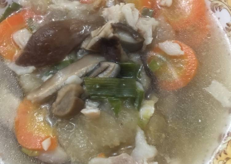 Resep Sop Kulit B2 Jamur Wortel Dan Irisan Daging Non Halal Anti Gagal Pecinta Daging Babi
