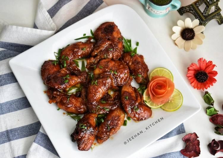 Chicken Wings Pedas Manis Masak Periuk