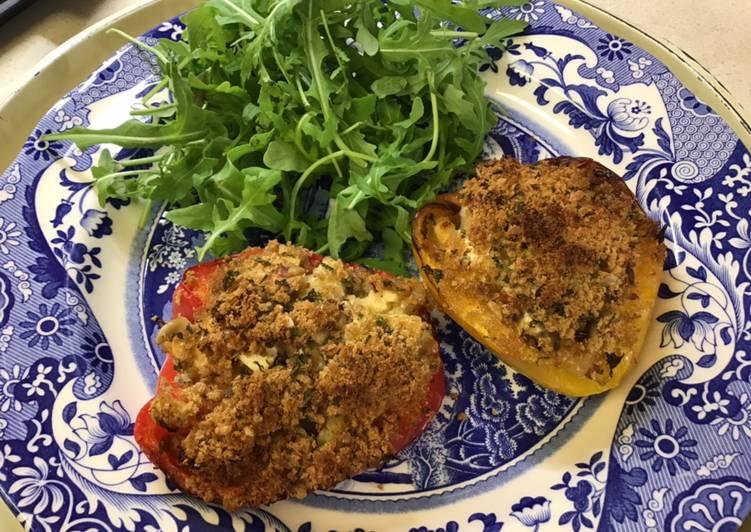 Easiest Way to Make Award-winning Stuffed roasted peppers with sunflower seeds #mycookbook