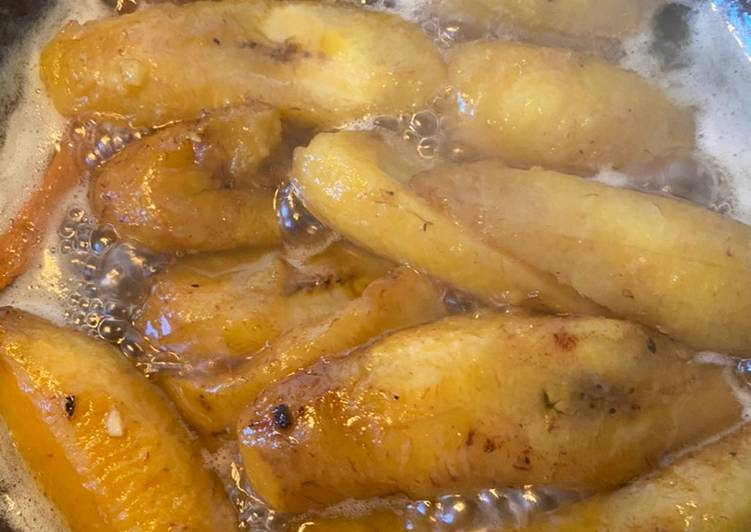 Sweet plantain with cinnamon