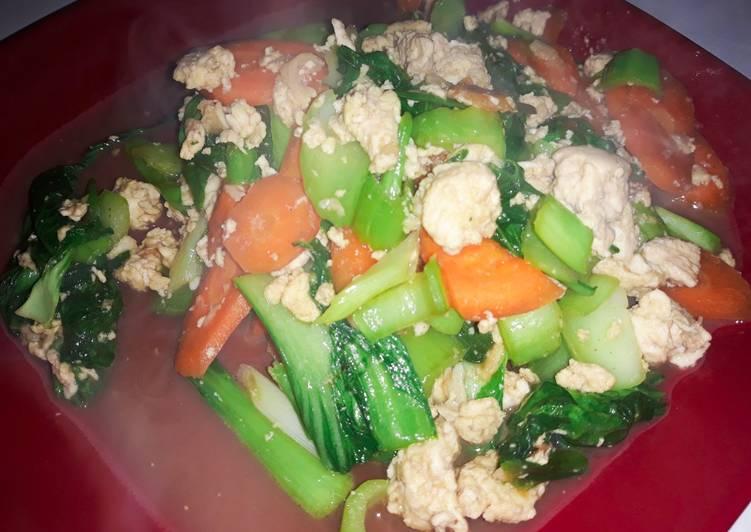 Sayur campur gercep (wortel + pokchoy)