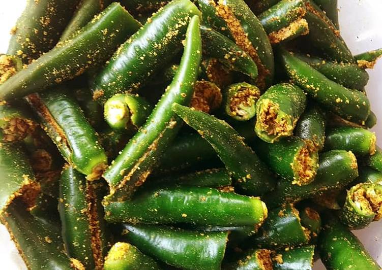 Simple Way to Prepare Super Quick Homemade Green chilli pickle