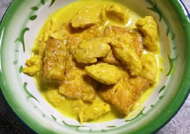Opor Ayam fillet dan Tahu