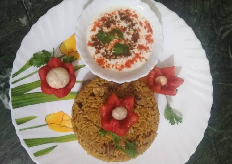 Recipe of Any-night-of-the-week Mushroom biriyani