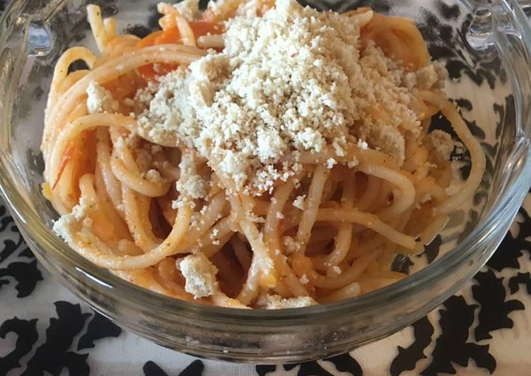 Vegan spaghetti bolognese (vegánske bolonské špagety)