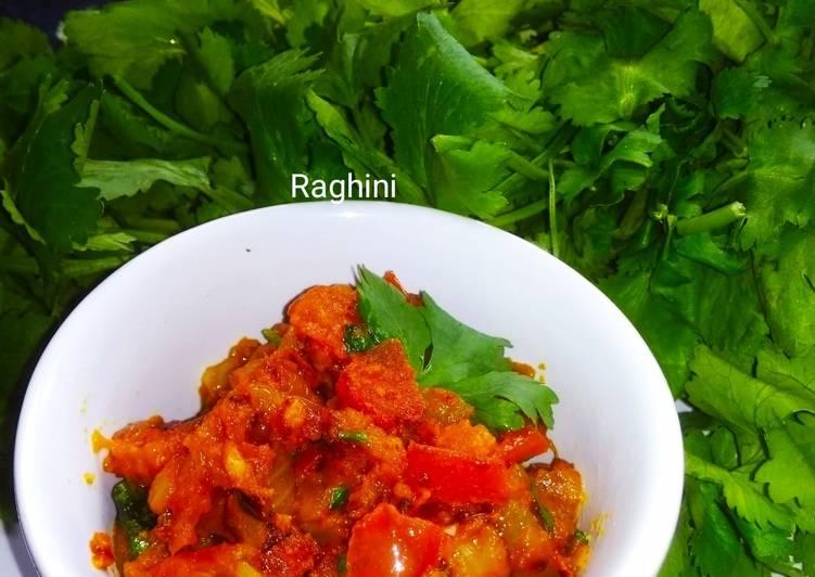 Recipe of Ultimate Tomato chutney/sabji