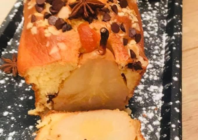 Cake aux Poires et Pépites de Chocolat