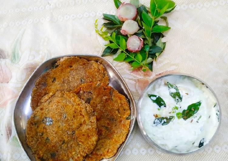 Recipe of Any-night-of-the-week Shakarkand Paratha with Cucumber raita