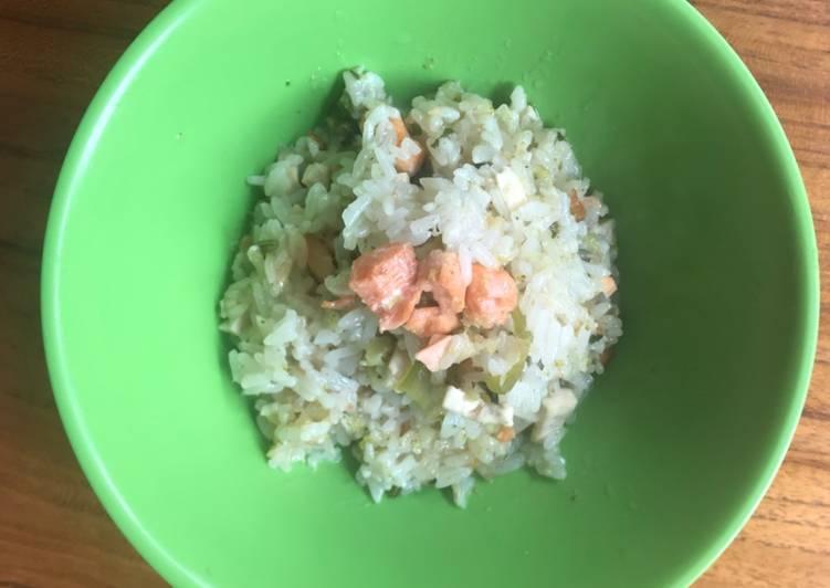 MPASI 1 Tahun Keatas Nasi Tim Ikan Salmon dan Tahu
