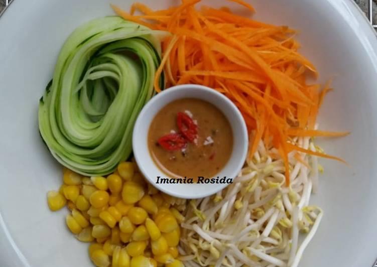 Salad jagung bakar segar