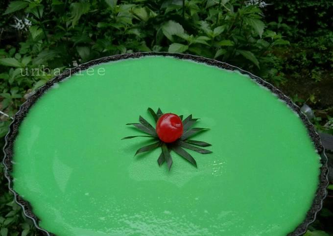Puding Melon lapis oreo