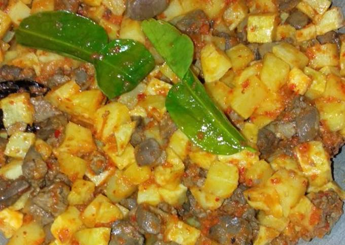 Sambal goreng kentang ampela ati