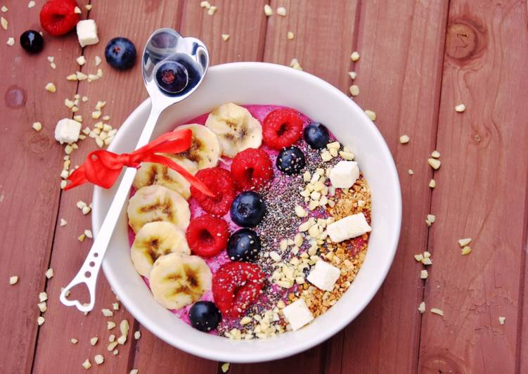 Comment Faire Des Smoothie bowl aux fruits rouges