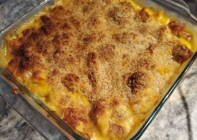 Brad's easy sausage mac n' cheese