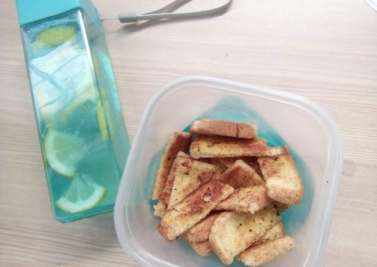Resep Garlic bread teflon (Roti bawang) ala PeHa Terenak