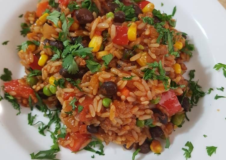 Recipe: Yummy Chorizo Fiesta Rice