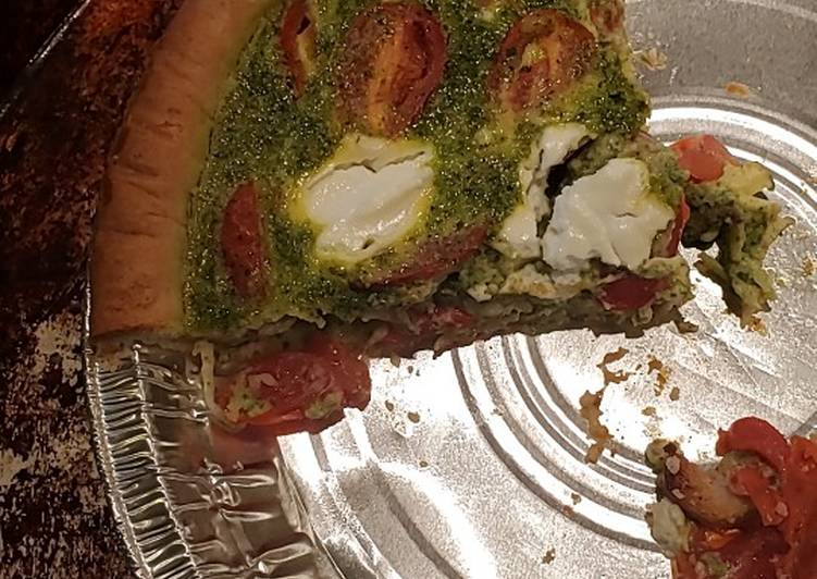 Recipe of Speedy Italian pesto quiche
